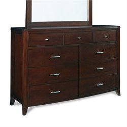 Modus Brighton 9 Drawer Double Dresser in Cinnamon