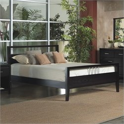 Modus Furniture Nevis Modern Platform Bed in Espresso