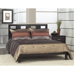 Modus Furniture Nevis Riva Modern Low Profile Platform Bed in Espresso