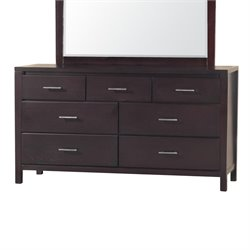 Modus Nevis 7 Drawer Double Dresser in Espresso