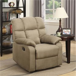 Lifestyle Solutions Brunswick Relax-A-Lounger Recliner in Taupe