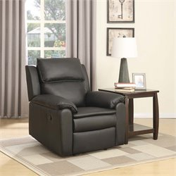 Lifestyle Solutions Hamilton Relax-A-Lounger Faux Leather Reciner