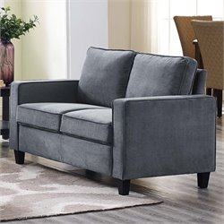 Lifestyle Solutions Silverton Loveseat in Gray