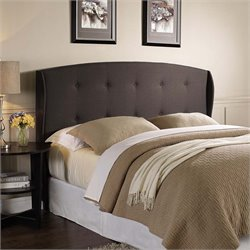 Lifestyle Solutions Lyon Upholstered Headboard in Dark Brown