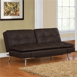 Serta Neo Double Cushion Convertible Sofa in Dark Brown