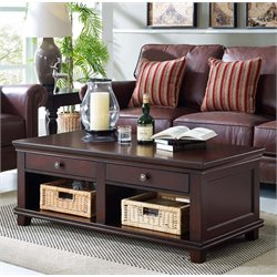 Lifestyle Solutions Balboa Storage Coffee Table in Cappuccino