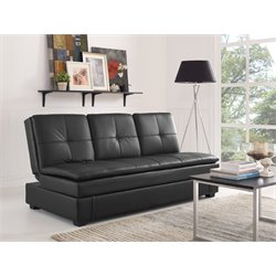 Serta Noble Dream Sleeper Sofa in Black