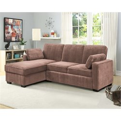 Lifestyle Solutions Coleman Convertible Sectional in Light Brown
