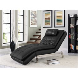 Serta Cascade Dream Convertible Chaise in Black