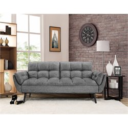 Relaxalounger Paradise Convertible Sofa in Dark Gray