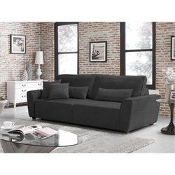 Relaxalounger Holcomb Convertible Sofa in Charcoal Gray