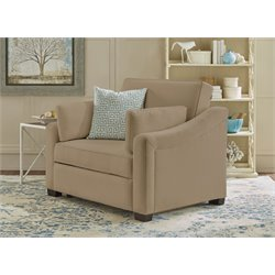 Serta Cydney Twin Size Dream Convertible Sofa in Medium Brown