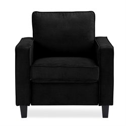 Lifestyle Solutions Memphis Upholstered Chair in Black
