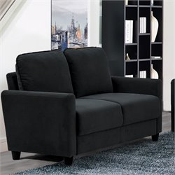 Lifestyle Solutions Rasaun Loveseat in Black