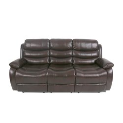 Lifestyle Pegut Leather Reclining Sofa in Dark Walnut