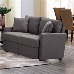 Lifestyle Solutions Arcade Loveseat in Dark Gray