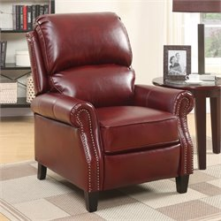 Relaxalounger Alume Leather Power Lift Recliner in Burgundy