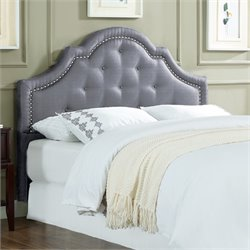 Lifestyle Solutions Jayla Kd  Headboard in Light Gray