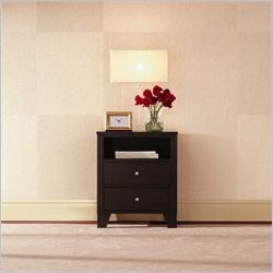 Lifestyle Solutions 500 Series 2 Drawer Nightstand in Cappuccino