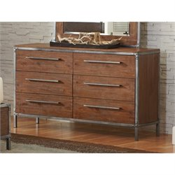 Coaster Arcadia 6 Drawer Dresser in Weathered Acacia