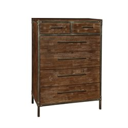 Coaster Arcadia 6 Drawer Chest in Weathered Acacia