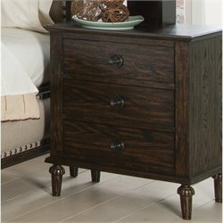 Coaster Saville 3 Drawer Nightstand in Dark Oak
