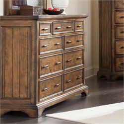 Coaster Elk Grove 9 Drawer Dresser in Vintage Bourbon
