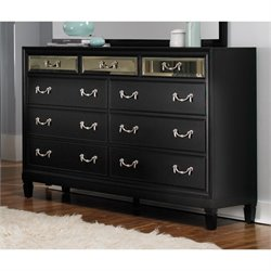 Coaster Devine 9 Drawer Dresser in Black