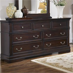 Coaster Cambridge 7 Drawer Dresser in Dark Cherry