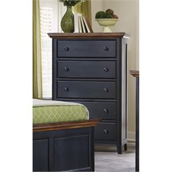 Coaster Mabel 5 Drawer Chest in Rubbed Black