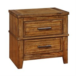Coaster Cupertino 2 Drawer Nightstand in Antique Amber
