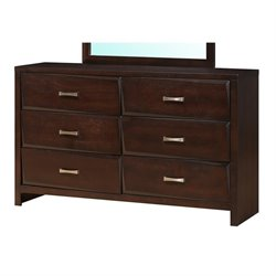 Coaster Palmetto 6 Drawer Dresser in Cappuccino