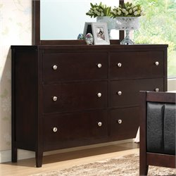 Coaster Carlton 6 Drawer Dresser in Cappuccino