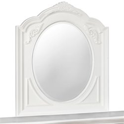 Coaster Caroline Oval Mirror in White