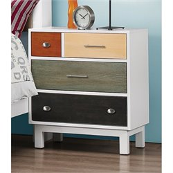 Coaster Lemoore 4 Drawer Nightstand in White