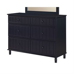 Coaster Zachary 6 Drawer Dresser in Navy Blue
