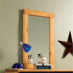 Coaster Wrangle Hill Tall Mirror in Amber Wash