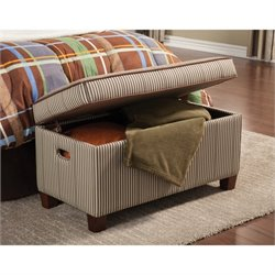 Coaster Dillon Storage Bedroom Bench in Brown Toned Stripe