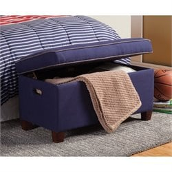 Coaster Lucas Storage Bedroom Bench in Royal Blue
