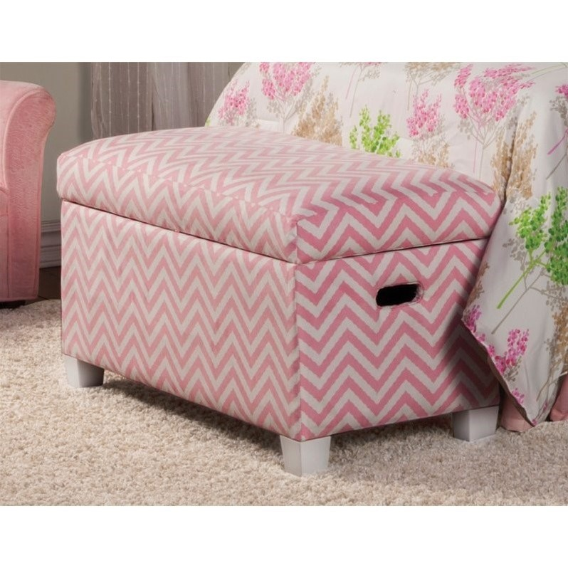 Coaster Charlotte Storage Bedroom Bench In Pink And White 405023