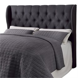 Coaster Murrieta Upholstered Headboard in Charcoal