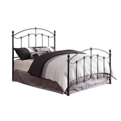 Coaster Yasmine Metal Bed with Headboard in Black Brush Gold