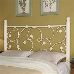 Coaster Full Queen Metal Headboard in White