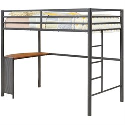 Coaster Twin Metal Loft Bed in Gunmetal