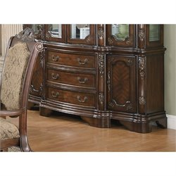 Coaster Andrea Traditional Dining Buffet in Brown Cherry