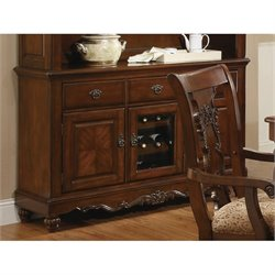 Coaster Addison China Cabinet Buffet in Cherry