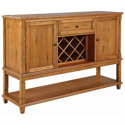 Coaster Parkins Buffet with Wine Rack in Dark Brown