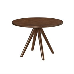 Coaster Urbana Round Dining Table in Vintage Cinnamon