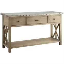 Coaster Webber Metal Top Buffet in Driftwood