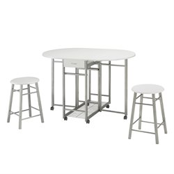 Coaster 3 Piece Pub Set in White